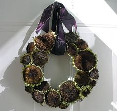 B. B.: sunflower wreath tutorial