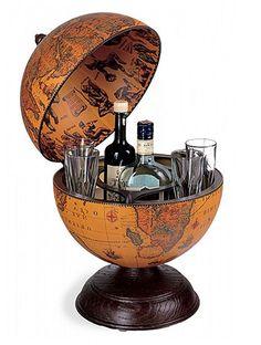 Mappemonde Globe terrestre bar de table alfeo steampunk