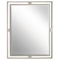 Hendrik Brushed Nickel Mirror