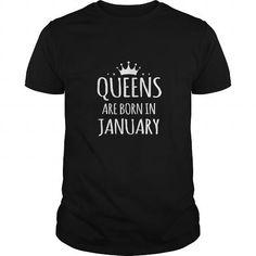 Awesome Tee Zodiac shirt Queens Are Born In January Birthday Women Shirt Horoscopes shirt Shirts & Tees
