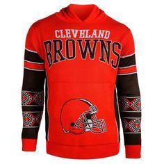 Cleveland Browns Big Logo Sweater Pullover Hoodie - Orange - $59.99