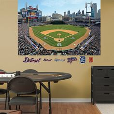 MLB Detroit Tigers 2013 Stadium Mural Decal Sticker