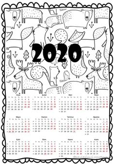 2020 Takvimi - Happy Christmas - Noel 2020 ideas-Happy New Year-Christmas New Year's Eve Activities, Travel Activities, Kindergarten Activities, Preschool, New Year Coloring Pages, How To Store Shoes, Class Decoration, Sunflower Tattoo Design, Homemade Crafts