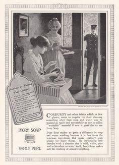 1917 Ivory Soap: White Courduroy, Ivory Soap Print Ad RelicPaper http://www.amazon.com/dp/B00K2YUF6I/ref=cm_sw_r_pi_dp_Btoxub1VXD68Z
