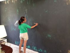 How to paint walls with chalk paint. www.suitepieces.com We carry all of the goods to get you projects done.