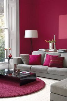 Red Modern Living Room Beautiful Red Interior Design Ideas for Modern Houses Living Room Color Schemes, Living Room Colors, Home Living Room, Living Room Designs, Living Room Decor, Colour Schemes, Colour Palettes, Living Area, Bedroom Decor