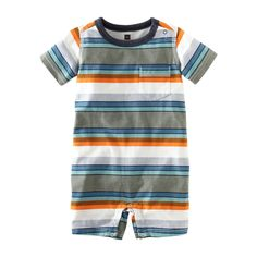 Surf Stripe Romper from teacollection.com - great for baby boy!
