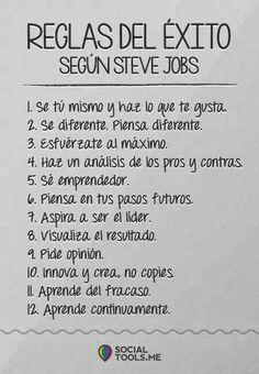 12 Reglas Para El éxito De Steve Jobs Frases De Exito