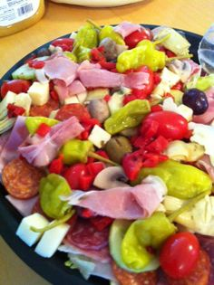 Antipasto made by Oliva's market in Milford MA.