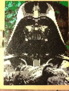 Darth Vader Star Wars (3x4 pegboards and approx. 11k beads) - perler bead sprite by TH3KRACK3N