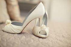 Every bride should wear Louboutin's! I have black Loubi's & when my now husband offered to but me bridal ones I STUPIDLY opted to save the money and take a cheaper option... Lessons learned; Never turn down Louboutin's & every bride should wear them!
