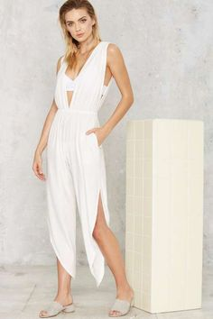 0123e06ea79 Hot As Hell Michele Plunging Jumpsuit - Clothes Jumpsuit Dressy