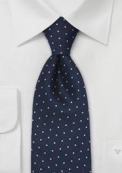 XXL Krawatte marineblau rosa Pünktchen günstig kaufen . . . . . der Blog für den Gentleman - www.thegentlemanclub.de/blog