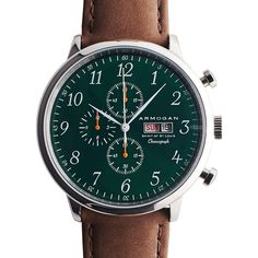 Armogan Spirit of St. Louis Chronograph Watch   Emerald Green