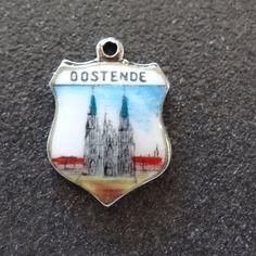 Ostend Enamel Shield Charm Oostende Belgium by JackInTheBox7