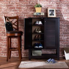 Darby Home Co® 15-Pair Shoe Storage Cabinet