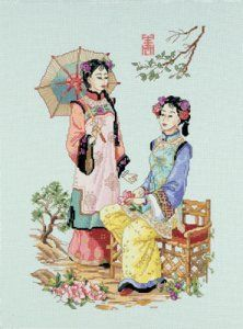023-0379 Friends in the Garden, Oriental by Janlynn.  I have 2 of these kits left before they are discontinued.