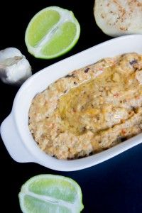 Spicy Grilled Garlic Lime Baba Ghanoush { Eggplant Dip }   Brunch Time Baker