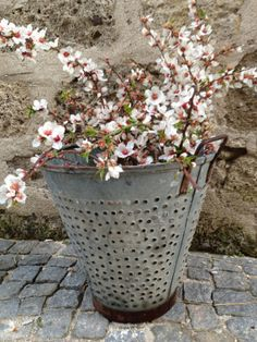 Different Type of Rustic Metal Olive  bucket baskets ...Excellent condition  Great idea for spring