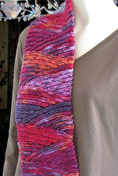 Cool-looking crochet scarf.  Actually this is knit!