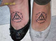 Deathly Hallows - Hey Rachel. Want to get matching Tatoos?