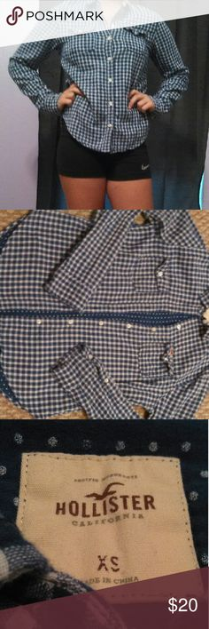 Flannel Blue flannel, long sleeved from Hollister Hollister Tops Tees - Long Sleeve