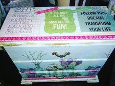 Decoupage Jewelry Box.. Serviette/Napkin & Scrapbook paper.. Instagram:  shabby rococo She Is Clothed, Rococo, Napkin, Scrapbook Paper, Dreaming Of You, Jewelry Box, Decoupage, Shabby, Fun