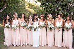 Blush pink wedding theme,blush bridesmaid dresses for a garden wedding Blush Pink Bridesmaid Dresses, Blush Pink Weddings, Wedding Bridesmaids, Wedding Dresses, Light Pink Bridesmaids, Wedding Blush, Bridesmaid Bouquets, Dresses Dresses, Wedding Bouquets