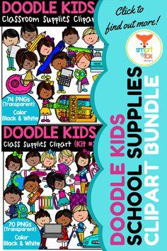 Back To School Worksheets, Back To School Clipart, Classroom Procedures, Classroom Supplies, School Supplies, Doodle Kids, Teacher Organization, Teaching Resources, Teacher Pay Teachers