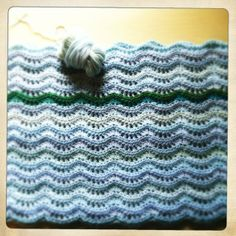 Land and Sea blanket in progress