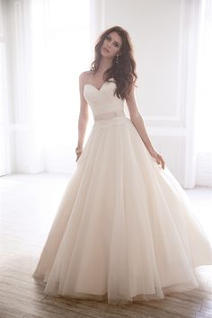 This classic tulle and lace ballgown by Madison James is undeniably timeless. MJ165 at www.charlottesweddings.com
