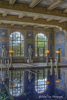 Hearst Castle, Roman Pool, San Simeon, California, indoor pool.
