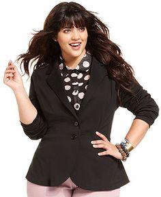 American Rag Plus Size Jacket, Two-Button Peplum Blazer - Plus Size Blazers - Plus Sizes - Macy's
