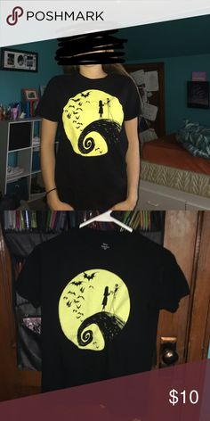 The nightmare before Christmas tshirt Only worn a few times like new. PRICE IS FIRM! Hot Topic Tops
