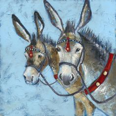 Donkey Rides signed limited edition print by Joanne Wishart