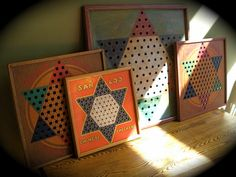 Chinese checkers game boards