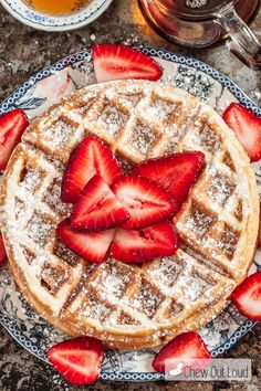"""However, very sweet: either cut back on sugar, or no need for syrup when serving.""""These Fluffy Belgian Waffles are golden and crispy on the exterior and fluffy soft on the inside. They're melt-in-your-mouth delicious! Belgium Waffles, Waffle Recipes, Pancake Recipes, Crepe Recipes, Pancakes And Waffles, Cookies, Breakfast Recipes, Mexican Breakfast, Breakfast Sandwiches"""