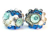 Bondi Beach - Turquoise - Rockpools - Handcrafted Lampwork Glass beads by Clare Scott SRA UK
