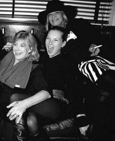 Marieanne Faithful, Anita Pallenberg & Kate Moss in London, November 1999