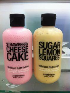 Hempz Body Lotion✦ Strawberry Cheesecake and Sugar Lemon Squares Beauty Care, Beauty Skin, Health And Beauty, Skin Tips, Skin Care Tips, Hempz Treats, Schul Survival Kits, Beauty Hacks For Teens, Tips Belleza