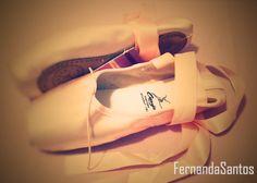 Minha 1º sapatilha de ballet Capezio Student - Foto by me