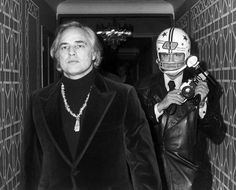 Marlon Brando with Ron Galella, celebrities by Ron Galella