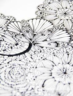 alisaburke: a peek inside my sketchbook- lace inspired
