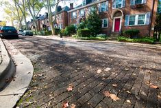 Roslyn Place in Shadyside — just 250 feet long — might not merit a lot of attention, except that it's the city's last wooden street, one of only a handful left in the world. (photo by Chuck Beard)