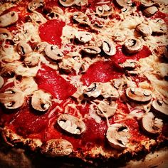 Blumenkohl pizza vegetarisch