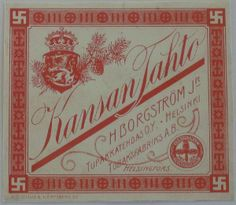 Finnish Tobacco - Kansan Tahto (note the Swastikas which are considered a good luck symbol in Finland). Good Luck Symbols, Map Pictures, Old Ads, Finland, Drugs, Nostalgia, Folk, Graphic Design, Retro