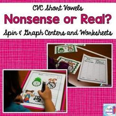 Teaching Nonsense Words in isolation just doesn't make sense. Kids can get a lot of practice for Dibles by playing games where they read nonsense words and real words and distinguish between them. Nonsense Words, Cvc Words, Sight Word Practice, Short Vowels, Writing Numbers, Character Education, Word Games, Addition And Subtraction, Teaching Reading