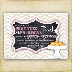 Pancakes and Pajamas  Chevron Chalkboard  by FourLeafPrints, $13.00