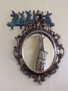 Upcycled ornate picture frame mirror