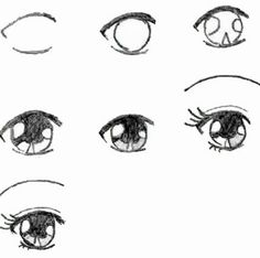 how to draw anime girl eyes 2